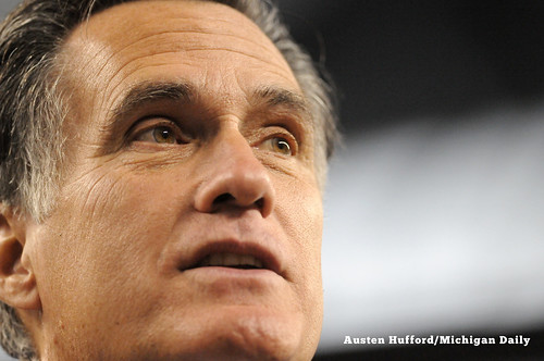 Mitt Romney speaks to the Detroic Economic Club