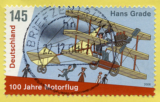 ephemera - airplane postage stamp - Germany