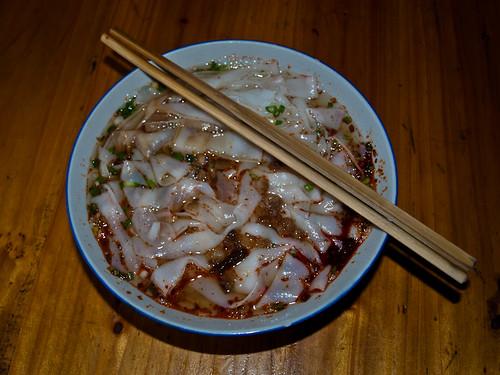 Comida china - sopa de fideos