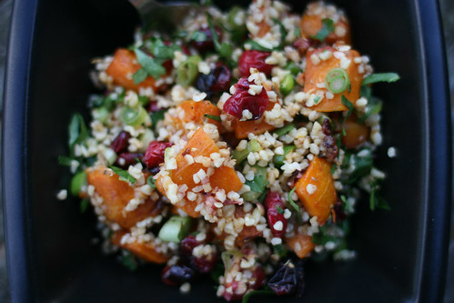 Roast Butternut & Cranberry Salad with Bulgur