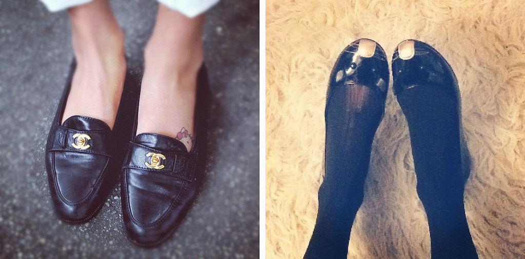 Instagram: @joellenlove; Vintage Chanel loafers and Marc Jacobs mouse flats