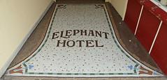 Threshold of the Elephant Hotel, Market Place, Pontefract