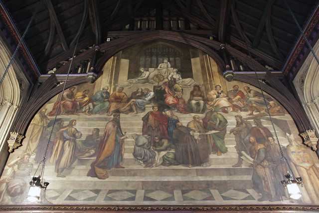"Mural ""Justice"" by George Frederic Watts (1859)"