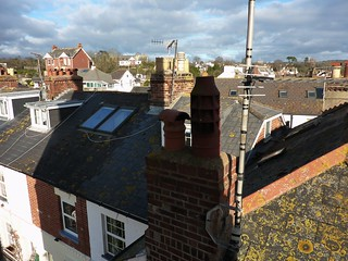 Wideangle roofscape from Peters Tower