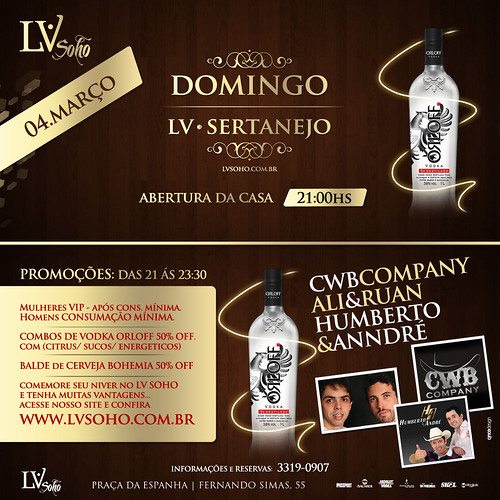 Flyer - Domingo Sertanejo by chambe.com.br