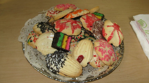 A plate of cookies for the visiting guests.  The Hillside Illinois Public Library.  Saturday, February 25th, 2012. by Eddie from Chicago