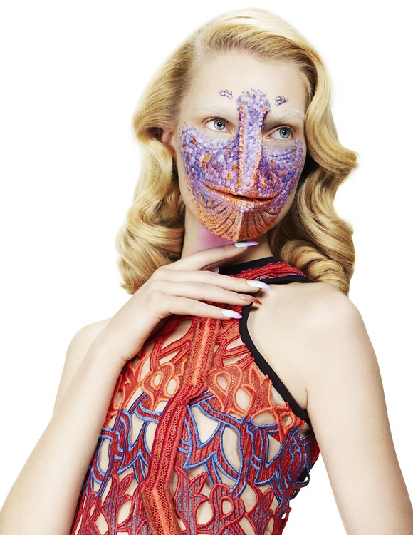 Altered Species — Interview Germany, March 12 — Anastasija Kondratjeva by Daniel Sannwald, styling by Kathi Kauder and Special Effects Mask by Jez @ Crawley Creatures