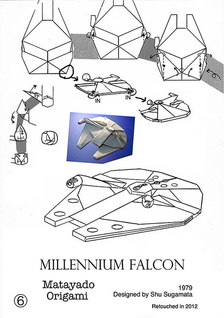 millennium falcon origami diagram 4 a photo on flickriver
