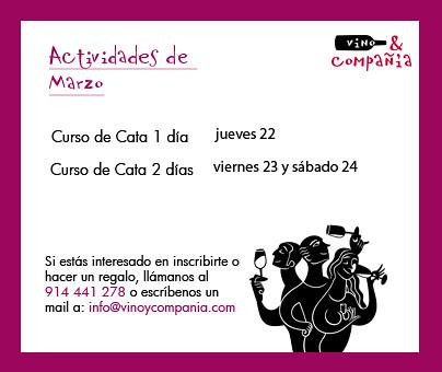 Cursos de Cata de Marzo 2012
