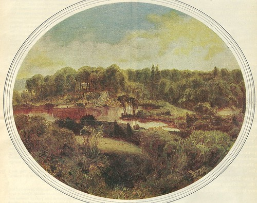 1858 NYC Central Park Painting - Frederick Law Olmstead