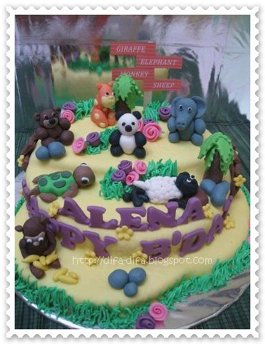 Zoo Cake for Alena by DiFa Cakes