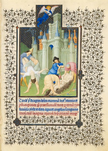 004-El fin de la plaga-Belles Heures of Jean de France duc de Berry-Folio 74r- ©The Metropolitan Museum of Art