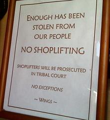 Shoplifitng Sign