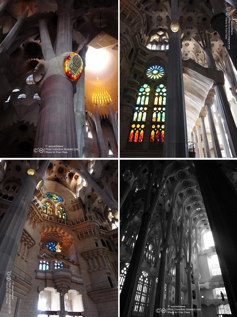 Hola Barcelona~巴塞隆納。聖家堂 Sagrada Familia 沙包重量構成的弧線  R1042629