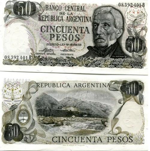 50 Pesos Argentína 1974-76, Pick 296
