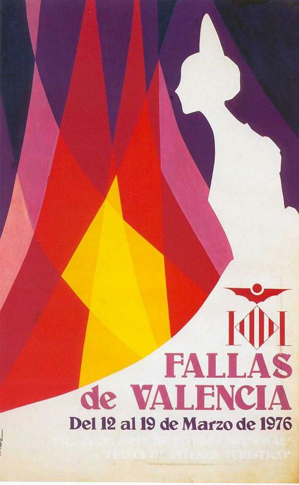 Cartel de las Fallas de Valencia de 1976