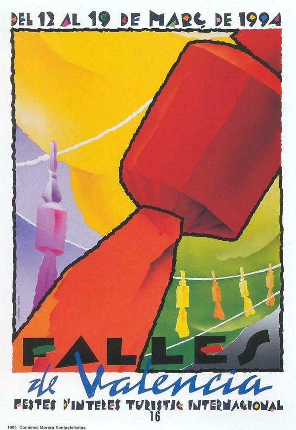 Cartel de las Fallas de Valencia de 1994