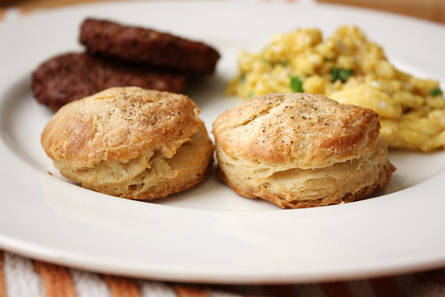 flaky biscuits.