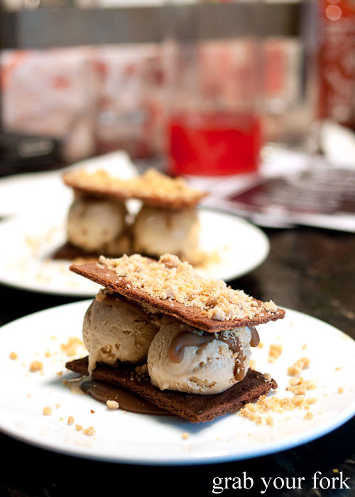 monaco bar and golden gaytime dessert at ms g's, potts point