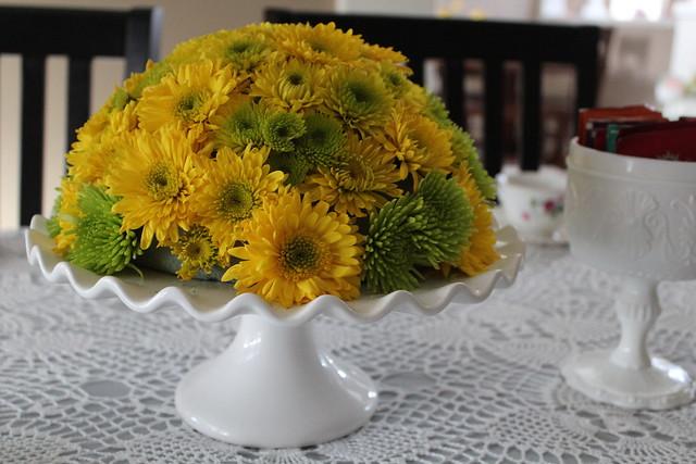 Allthingsnew diy cake stand flower arrangement