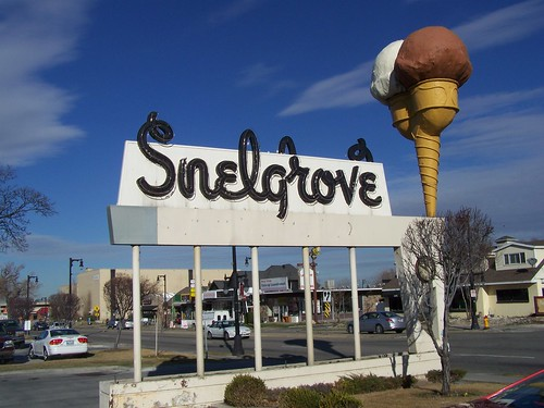Old Snelgrove ice cream factory sign