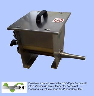 Dosatore a coclea volumetrico SF-P per flocculante