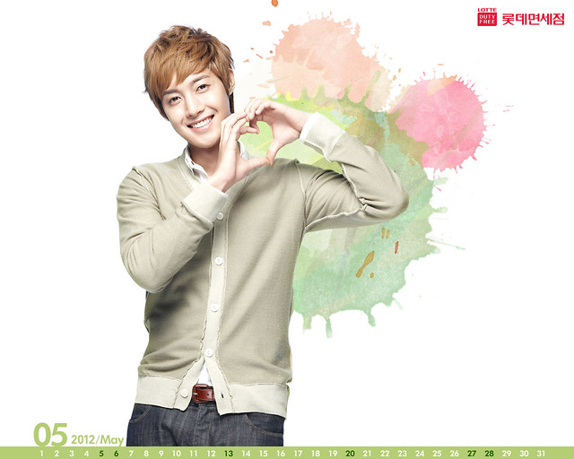 Kim Hyun Joong Lotte Duty Free May 2012 Desktop Calendar