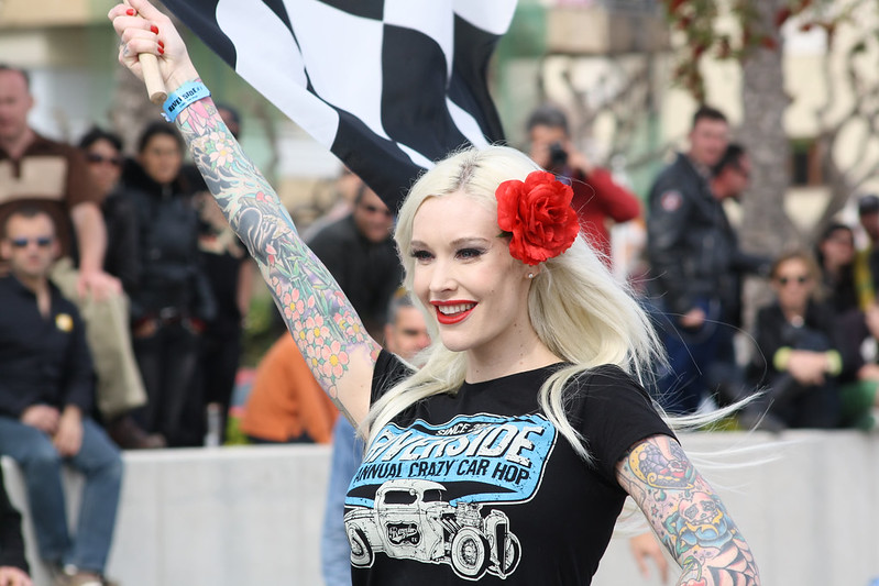 Sabina Kelley at Rockabilly Car show - Calafell