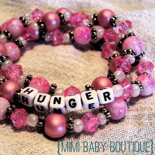 hunger pink bracelet