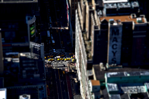 Manhattan in Tilt Shift