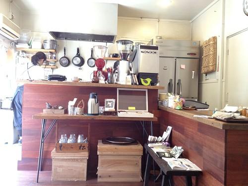 調理場はこんなにオープン@cafe Birdbath