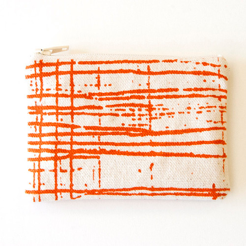 Orange coin purse by Erin MIller Arnold Fine Art and Textile Design (Etsy)