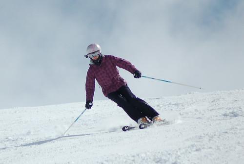 Natalie Skiing Easter 2012