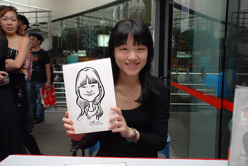 Caricature live sketching for Singapore Suntec City Annual Party - 18