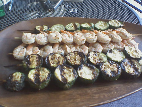 Grilled Zucchini and Shrimp Skewers by Petunia21