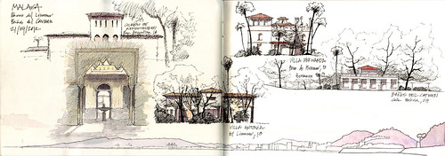 Malaga Sketchcrawl-Barrio del Limonar y Baños del Carmen