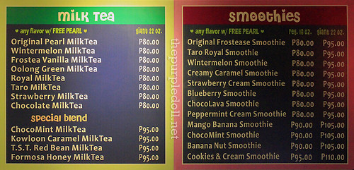 Frostea Milk Teas and Smoothies