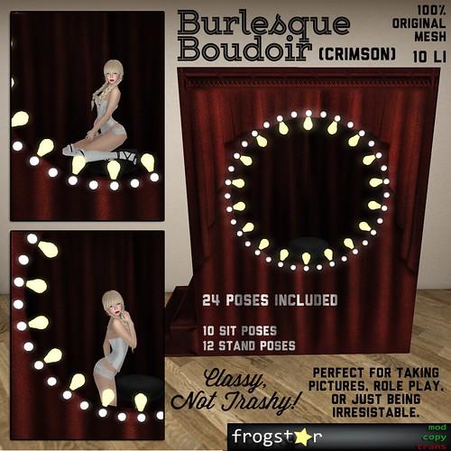 Frogstar - Burlesque Boudoir Poster (Crimson)