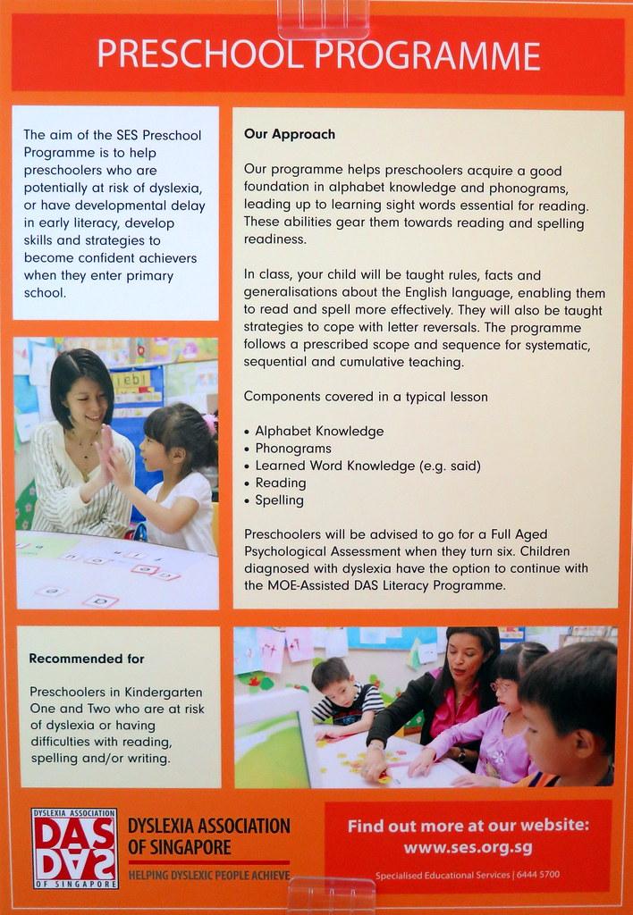 Preschool program for dyslexic children