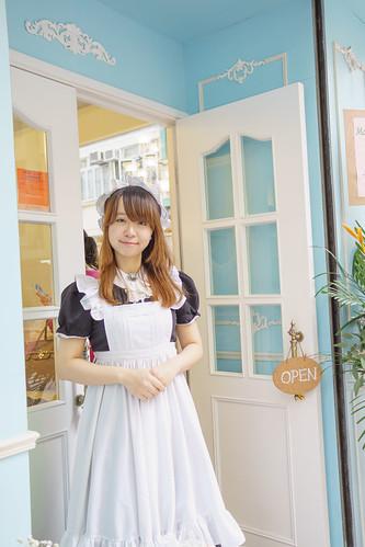 一來到就看到女僕Neko 萌萌地在門口接侍了!