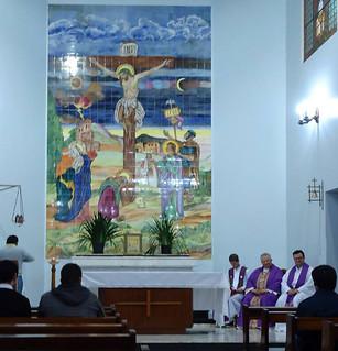 Dom Altieri celebrou a missa com os seminaristas