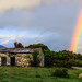 Rainbow over Paggaio mountain