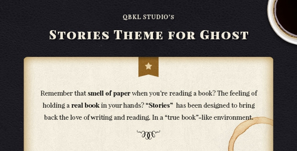 Stories v1.3 - Ghost Blog Theme for Writers