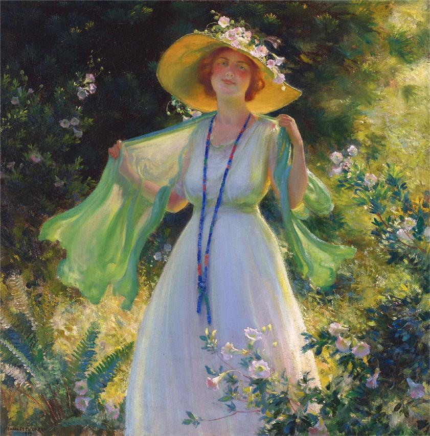 Path of Flowers by Charles Courtney Curran - 1919