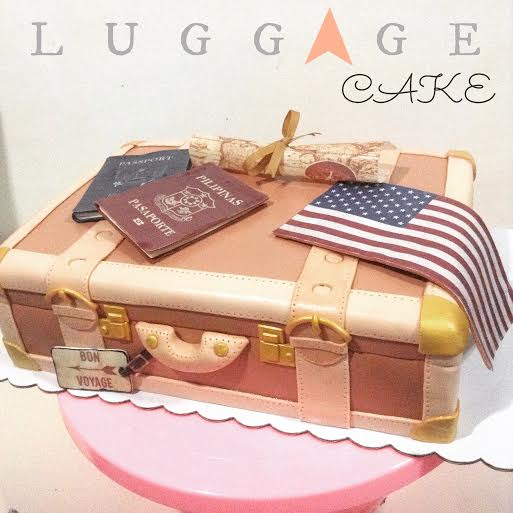 Luggage Cake by Tootie Mariano & Margie Mariano of Tootie Cupcakes