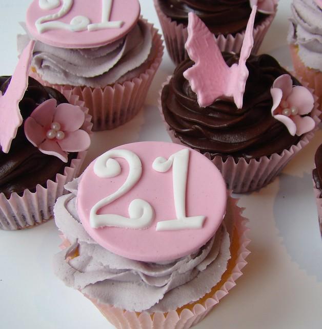 Cupcake Decorating Ideas 21st Birthday : 21st birthday cupcakes Flickr - Photo Sharing!