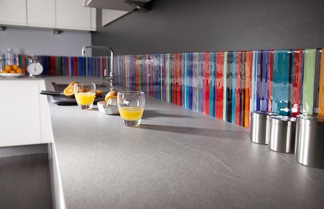 Stripe Multicolour Fused Glass Splashback Flickr Photo