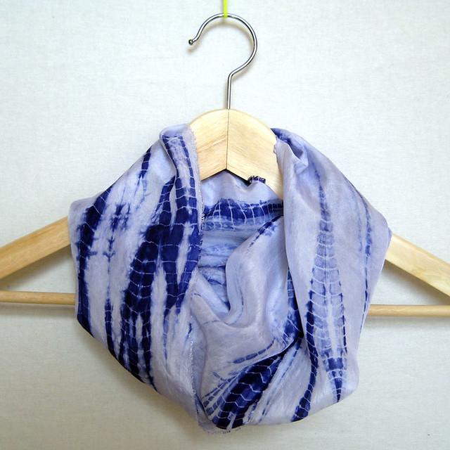 shibori circle scarf