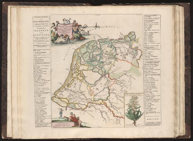 Historische kaart van friesland tussen de oude rijn en eems in de romeinse en frankische tijd - Kaart evenwicht tussen werk en ...