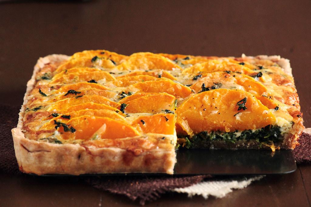 Butternut Squash & Spinach Tart